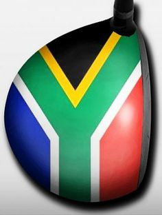 Personalized golf driver decal by Big Wigz Skins - South African Flag.  Buy it @ ReadyGolf.com