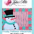 Place mat pattern: Frosty Fellows. Find the pattern for a set of these jaunty fellows at www.craftsy.com. Fun and easy pieceing and applique--they go together fast!