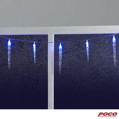Zum Glück wachsen unsere Eiszapfen nicht an der Nase ;-). 20 Lichter in blau, für den Innen- und Außenbereich #weihnachten