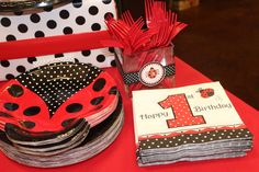 "Photo 3 of 29: Ladybugs / Birthday ""Mailey's 1st Birthday Ladybug Party""   Catch My Party"