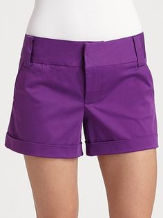 Alice + Olivia Cady Cuff Shorts #SaksLLTrip