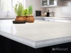 WILSONART - A Crescent Edge - Countertop: CARRARA SANTORINI GLAZE FINISH WITH AEON™ 1855K-55 -http://wilsonart.com/