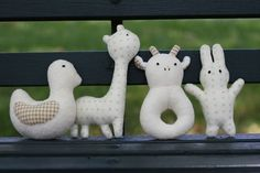 DIY Baby Rattles... ok, so they are DIY because this was originally on Etsy and they aren't for sale any more.  Maybe contact the seller and see if would make more because they are super cute!!