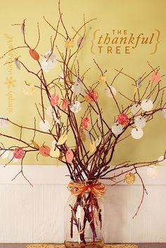 The Thankful Tree: beautiful Thanksgiving tradition idea