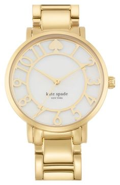 kate spade new york 'gramercy' mother-of-pearl bracelet watch, 34mm available at #Nordstrom