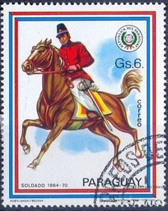 Stamp: Soldier 1864-1870 (Paraguay) (Riders uniforms) Mi:PY 3126