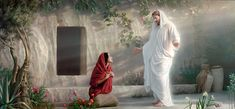 Christ and Mary at the Tomb - Joseph Brickey