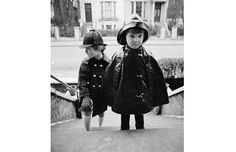 Rainwear: Two boys wearing capes, a sou'wester and a deerstalker hat, 1966...I used to have a sou'wester and navy mac!