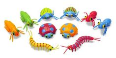 Bug collectors will be delighted with these brightly colored creepy crawlers $6.99