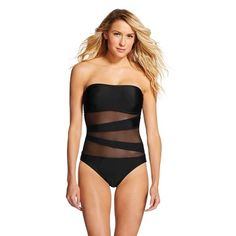 Women's Mesh Inset One Piece - Mossimo