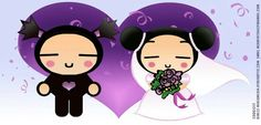 i made a pucca and garu as a request for a friend who's getting married soon. it's for their invitation cards next year. Pucca and Garu gets married Pictures To Draw, Cute Pictures, Cuddling Gif, Cartoon Books, Kawaii Illustration, Funny Love, Getting Married, Chibi, Hello Kitty