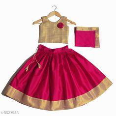 Lehenga Cholis Cute Designer Girls Lehenga Choli Dupatta Set Top Fabric: Satin Lehenga Fabric: Taffeta Silk Dupatta Fabric: Net Sleeve Length: Sleeveless Top Pattern: Zari Woven Lehenga Pattern: Floral Dupatta Pattern: Striped Stitch Type: Stitched Multipack: 3 Sizes:  4-5 Years (Lehenga Waist Size: 26 in Lehenga Length Size: 24 in Duppatta Length Size: 1.6 m)  5-6 Years (Lehenga Waist Size: 29 in Lehenga Length Size: 27 in Duppatta Length Size: 1.65 m)  3-4 Years (Lehenga Waist Size: 26 in Lehenga Length Size: 22 in Duppatta Length Size: 1.5 m)  8-9 Years (Lehenga Waist Size: 32 in Lehenga Length Size: 31 in Duppatta Length Size: 1.8 m)  6-12 Months (Lehenga Waist Size: 22 in Lehenga Length Size: 16 in Duppatta Length Size: 1.5 m)  6-7 Years (Lehenga Waist Size: 29 in Lehenga Length Size: 29 in Duppatta Length Size: 1.7 m)  7-8 Years (Lehenga Waist Size: 31 in Lehenga Length Size: 30 in Duppatta Length Size: 1.75 m)  2-3 Years (Lehenga Waist Size: 25 in Lehenga Length Size: 19 in Duppatta Length Size: 1.5 m)  Country of Origin: India Sizes Available: 6-12 Months, 9-12 Months, 12-18 Months, 18-24 Months, 1-2 Years, 2-3 Years, 3-4 Years, 4-5 Years, 5-6 Years, 6-7 Years, 7-8 Years, 8-9 Years, 9-10 Years, 10-11 Years, 11-12 Years   Catalog Rating: ★4.3 (16924)  Catalog Name: Cute Designer Girls Lehenga Choli Dupatta Set CatalogID_1441571 C61-SC1137 Code: 173-8527648-219