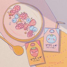 Aesthetic Drawing, Aesthetic Art, Aesthetic Anime, Arte Do Kawaii, Kawaii Art, Japon Illustration, Cute Illustration, Cute Cartoon Wallpapers, Animes Wallpapers