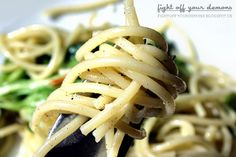Cold Pasta Salad with Lamb's Lettuce