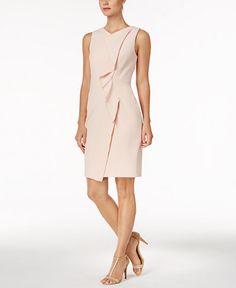 0cc8c49510c68 Calvin Klein Petite Ruffled Scuba Crepe Dress   Reviews - Dresses - Petites  - Macy s