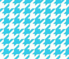 Fabric Finders, Inc. Print #1673 Large Houndstooth Turquoise