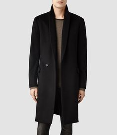 Mens Zenith Coat (Ink) - All Saints
