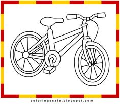"Free Bicycle printable coloring pages for kids. Daal ""د"" is for darajah ( Bicycle, دراجة)."