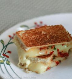 Grilled cheese + sun dried tomato sandwiches