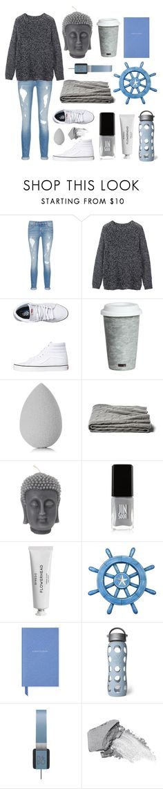 """Let the music steer you"" by piaroels ❤ liked on Polyvore featuring rag & bone/JEAN, Toast, Vans, Fitz and Floyd, beautyblender, a&R, JINsoon, Byredo, Smythson and Lifefactory"