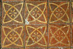 Vintage Tile floor - Medieval floor tiles, St Thomas The Apostle, Harty, Kent. Ceramic Floor Tiles, Mosaic Tiles, Tile Floor, Thomas The Apostle, St Thomas, Medieval Pattern, Medieval Art, Medieval Times, Modern Flooring