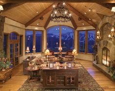 Luxury Residence Design in Victorian Rustic Styles: Exquisite Classic Living Room With Rustic Fireplace Depping Residence