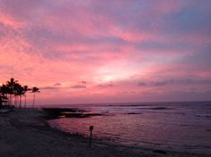 Sunset from the Four Seasons Hualalai on the big island of Hawaii