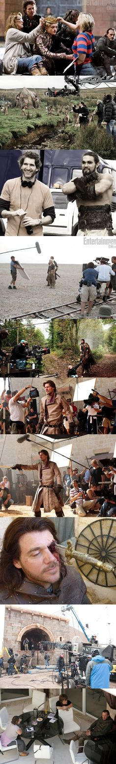 Game of Thrones, behind the scenes - Séries. Loving how happy the cast are!