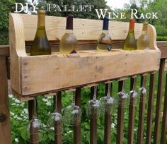 A pallet destined for the landfill is repurposed to make a wine rack.…