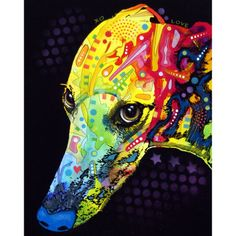 Greyhound-fave dog ever-pop art rendition by Dean Russo