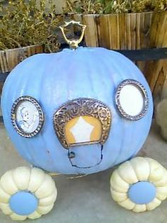 Cinderella Pumpkin....this is genius. Can't believe this idea has never even crossed my mind! Love it!