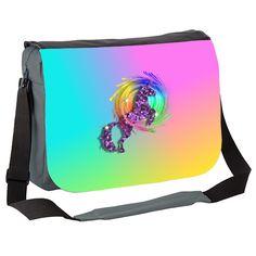 Sparkly Rainbow Unicorn Messenger Bag by designmarketshop at zippi.co.uk
