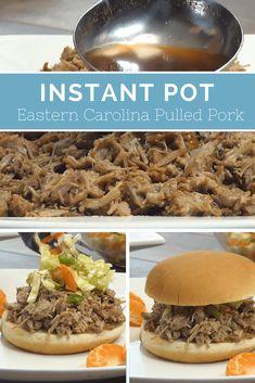 Pressure Cooker Pork / Instant Pot Pork / Instant Pot Pulled Pork / Eastern Carolina Pulled Pork / Vinegar Based Sauce / #instantpot #pulledpork #Pressurecooker