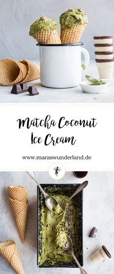 matcha coconut ice cream alternative summer yum Gesunde Matcha-Kokos-Eiscreme von Maras Wunderland