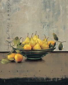 Green Bowl Still Life (acrylic on canvas, 30×24) by Sherry Loehr  #AcrylicArt #FineArt