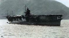 Shokaku seen here, possibly in 1943. Shokaku and her sister Zuikaku were thought by most observers to have been the best and most successful Japanese carrier design, gaining much from experience with earlier ships, and being designed as carriers, rather than being conversions as ships like Kaga and Akagi were. She was sunk in 1944 by the US submarine Cavalla