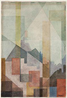 Rudolf Jahns - Blick auf die Dächer - 1956