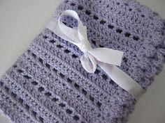 Lavender baby blanket crochet