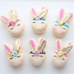 """4,429 Likes, 109 Comments - Christina's Cupcakes (@christinascupcakes) on Instagram: """"Boho chic bunnies  {rose water flavored macarons} thanks to @christinesmolds for the fondant…"""""""