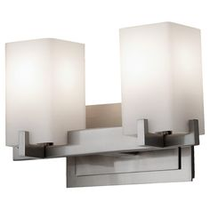 Feiss VS18402-BS - Riva 2 - Light Vanity Fixture in Brushed Steel