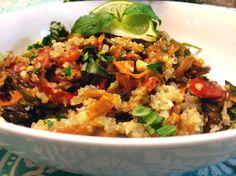 Vegan Thai Recipes: Peanut Satay on Cauliflower Rice