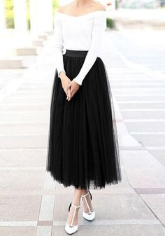 Black Puffy Tulle Plus Size Homecoming Dress Cute Sweet Dress Black Tulle Skirt Outfit, Skirt Outfits, Dress Black, Plus Size Homecoming Dresses, Prom Dresses, Elegantes Outfit, Sweet Dress, Mi Long, Dance Outfits