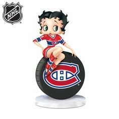 Shop The Bradford Exchange for Betty Boop Montreal Canadiens® Figurine. Betty Boop™ loves to cheer on her favourite Montreal Canadiens® in style - and with a little bit of sass! Now, she looks ready to take the ice in the first-ever Betty Boop. Montreal Canadiens, Betty Boop Figurines, Bradford Exchange, All Team, Hockey Puck, National Hockey League, Hand Cast, Nhl, Mickey Mouse