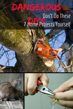 """Some home maintenance projects are better left to the professionals. These DIY home projects can be dangerous, or even downright deadly. Click through our """"Do Not DIY"""" gallery to learn more about these potentially dangerous, and sometimes illegal, DIY home repair and maintenance tasks."""