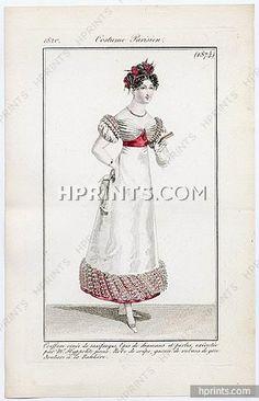 Le Journal des Dames et des Modes 1820 Costume Parisien N°1874