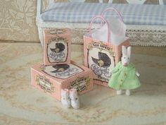 Baby Shower Dollhouse Assembly gift bag and por ANABELAMINIATURES