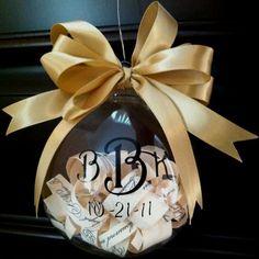 Wedding Christmas ornament-used rehearsal & wedding invitation
