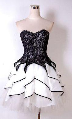 A Line Homecoming Dress,Beading Homecoming Dress,Cascading Prom Dress,Mini Prom…