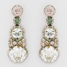 Sorrelli French Blush Collection Crystal Drop Earrings, Weddings, Bridesmaids