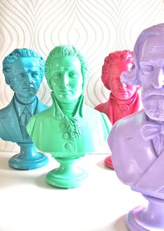 Cheeky historical busts by Mahzer & Vee | Lonny.com